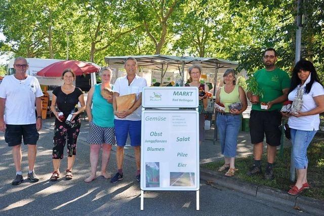 Der neue Wochenmarkt in Bad Bellingen etabliert sich