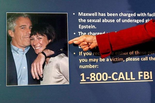 Epsteins Ex-Partnerin Maxwell plädiert auf