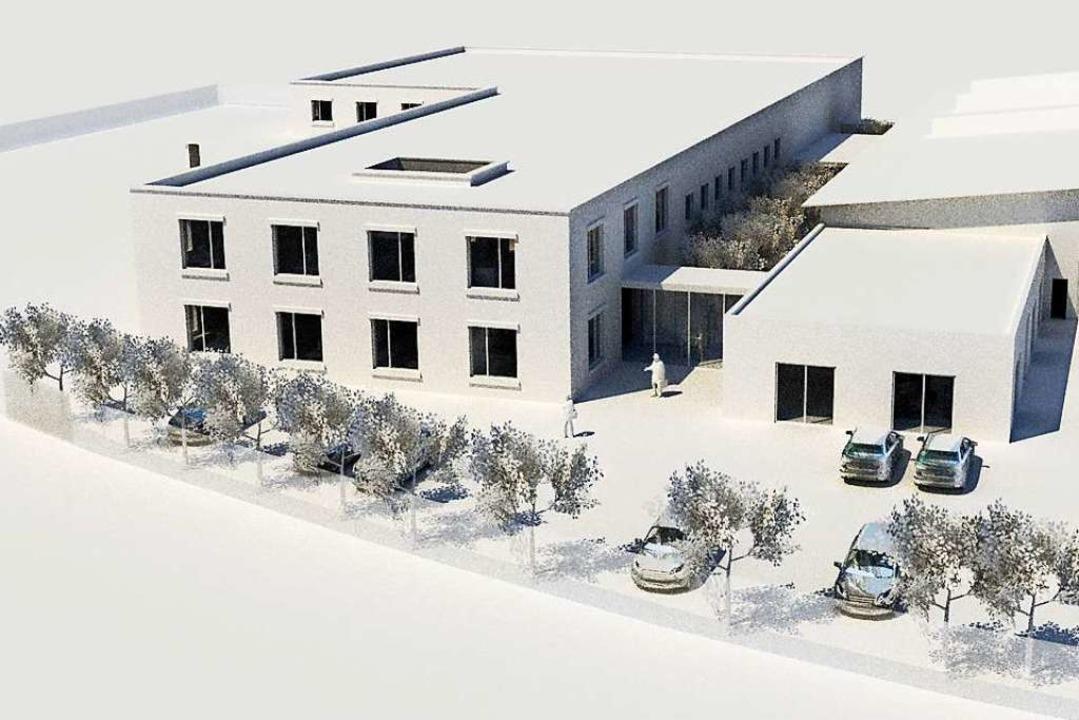 Das Architekturbüro Sennrich & Sch... das bisherige Firmengebäude zu sehen.    Foto: Herbert Trogus