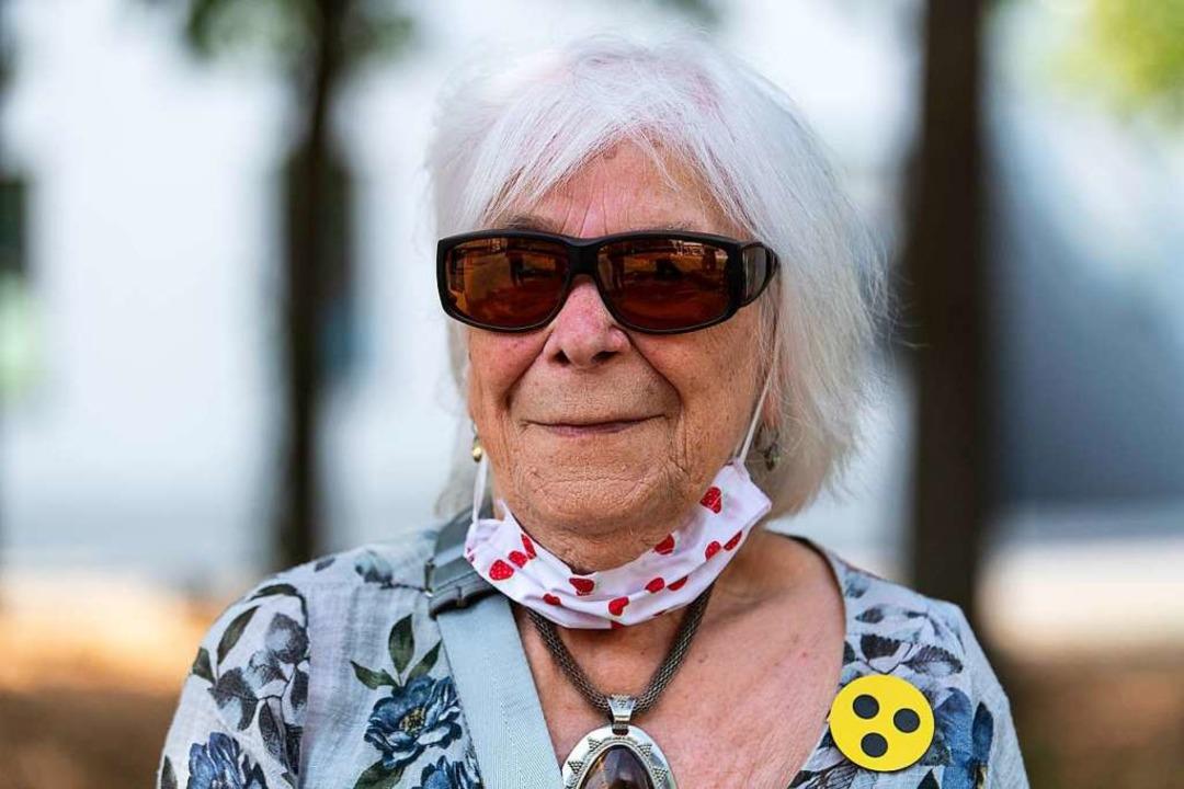 Irene Schäuble, die Tochter von Else Wagner, verfolgte die Ratssitzung.  | Foto: Patrick Seeger/Stadt Freiburg