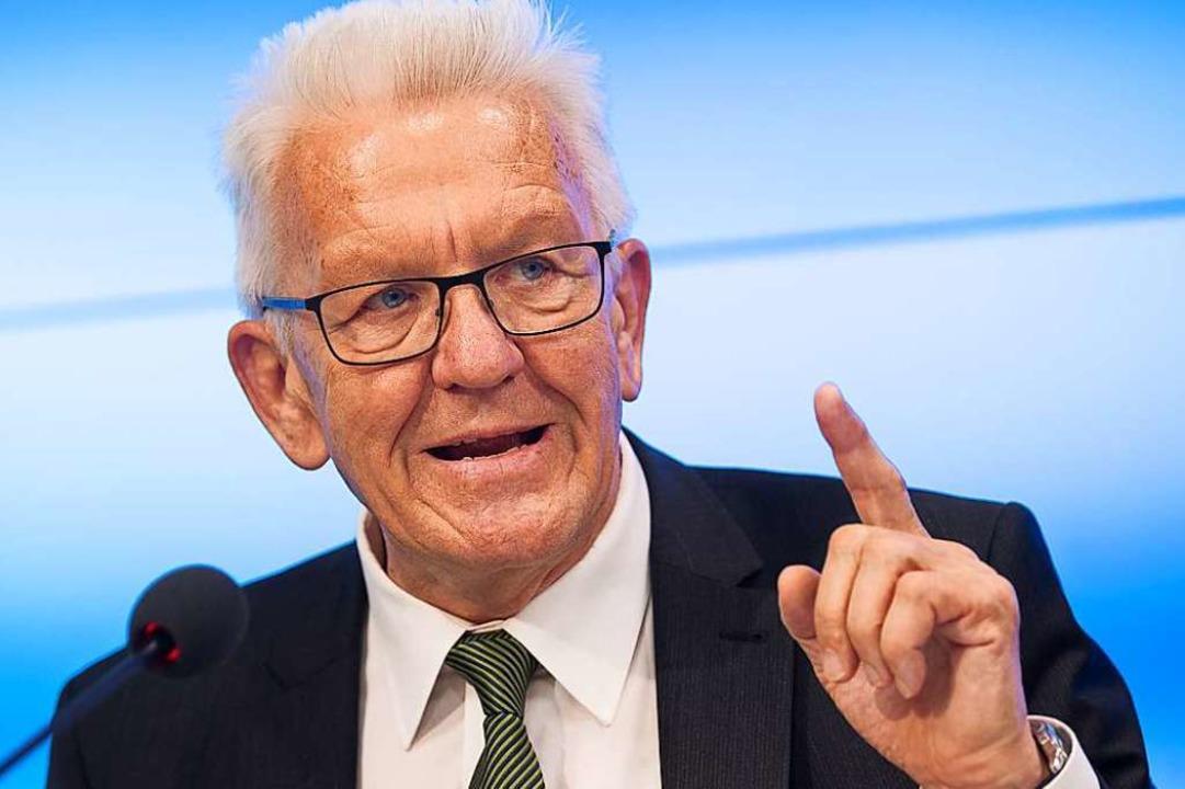 Winfried Kretschmann, Ministerpräsiden...andtagswahlen 2021 erneut kandidieren.    Foto: Sebastian Gollnow (dpa)
