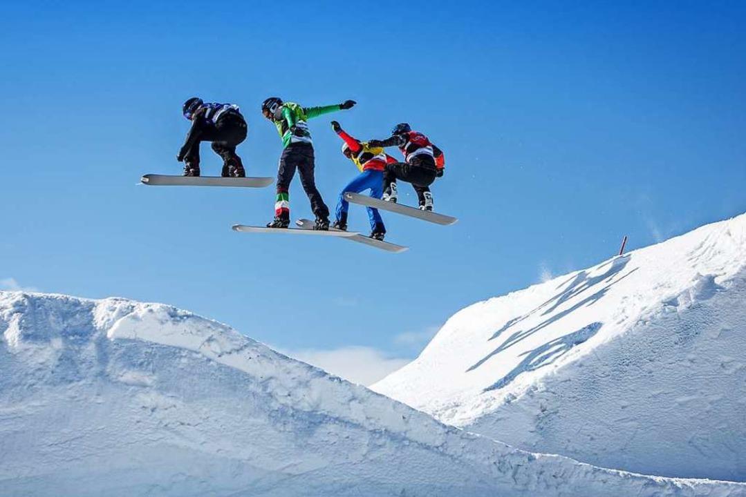 Spektakuläre Sprünge sind bei den Weltcups am Feldberg wieder zu erwarten.  | Foto: Baschi Bender
