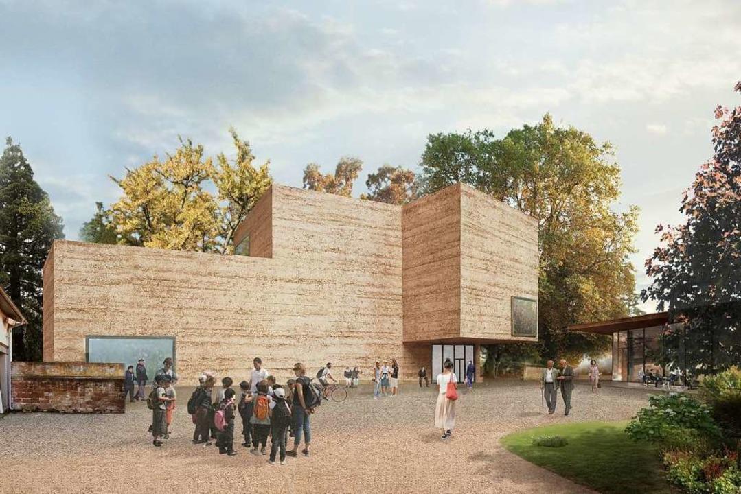 So stellt sich der Architekt Peter Zum...er Fondation im Iselin-Weber-Park vor.  | Foto: Büro Peter Zumthor