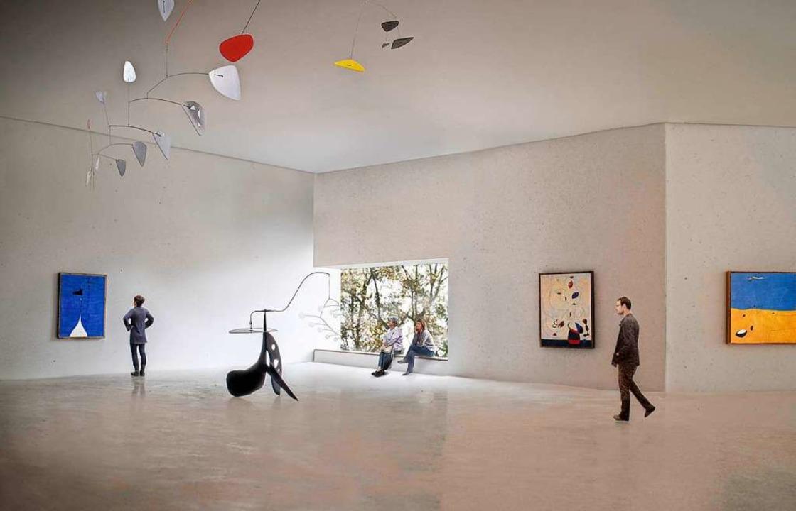 Eine Visualisierung des Ausstellungsbe...es in dem neu geplanten Haus der Kunst  | Foto: Successió Miró