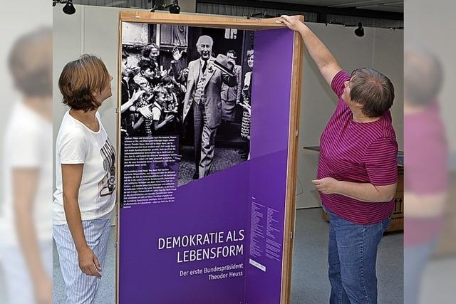 Ausstellung im Rathaus zur Demokratie