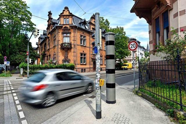 Erster Blitzer in einer 20er-Zone in Freiburg soll Autos bremsen