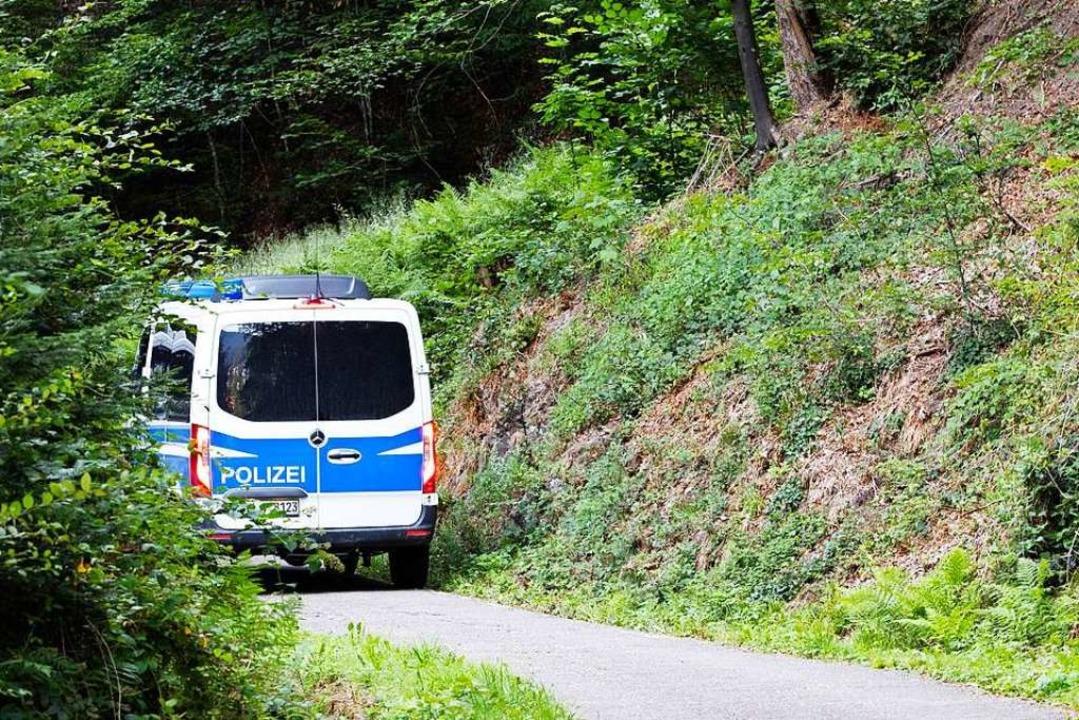 Die Polizei sucht weiter nach dem flüc...ermutet, dass er sich im Wald aufhält.  | Foto: Philipp von Ditfurth (dpa)