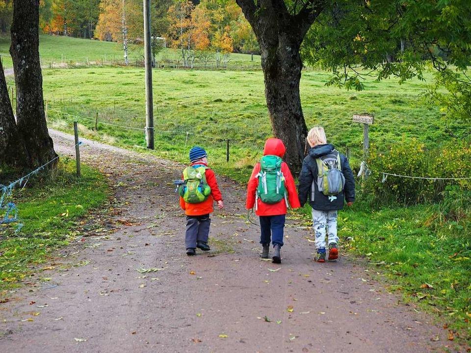 Viel Platz für Bewegung: Waldkindergär...lichst auf bauliche Grenzen verzichten  | Foto: Susanne Gilg