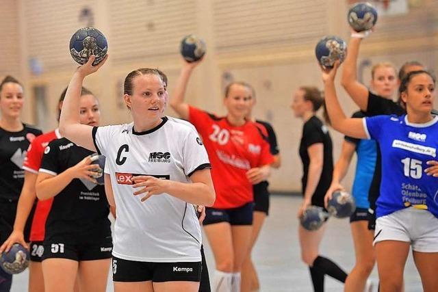 Fotos: Handballerinnen der HSG Freiburg stimmen sich auf Zweitliga-Saison ein