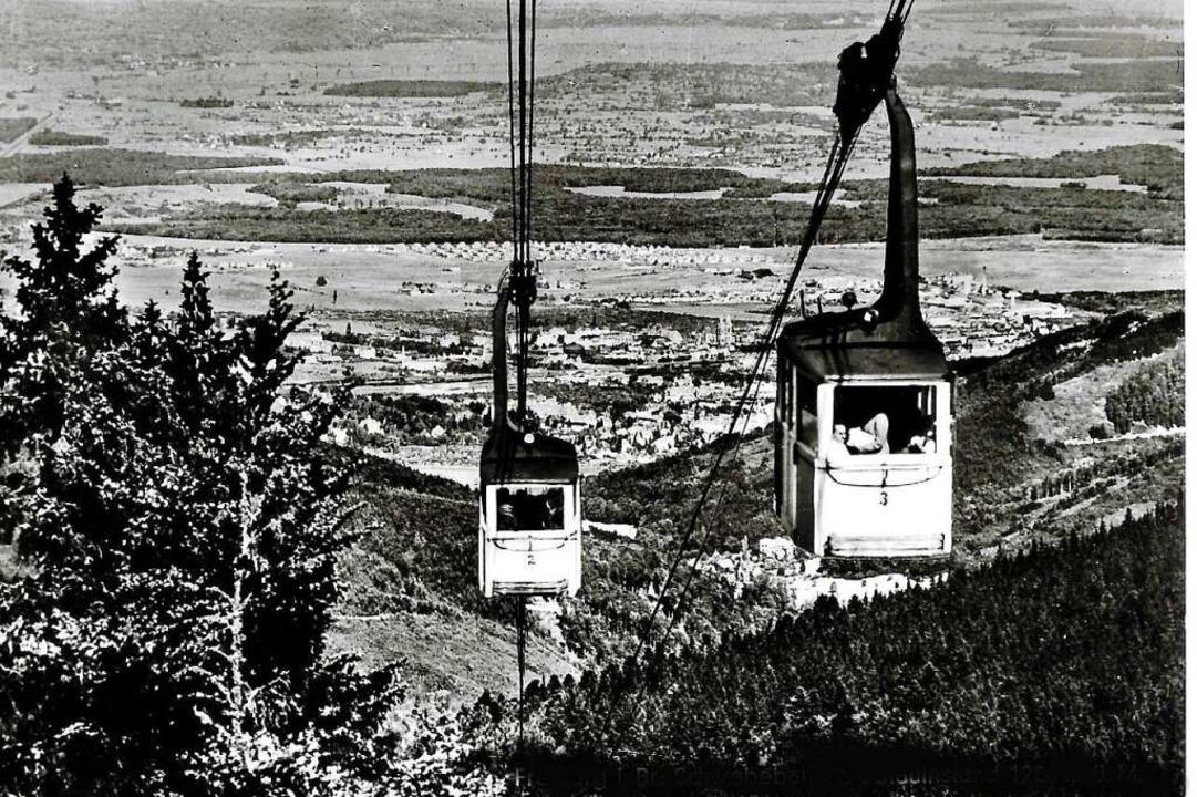 Die historische Aufnahme von 1965  zei...s bis zu 24 Passagiere fassen konnten.  | Foto: Archiv Hans Sigmund