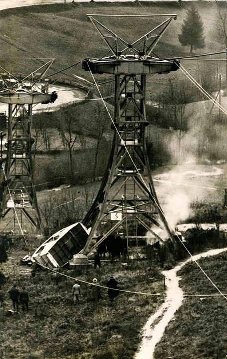 Am 26. November 1932 kam es zum einzig...hauinslandbahn. Drei Menschen starben.  | Foto: Archiv Manfred Gallo