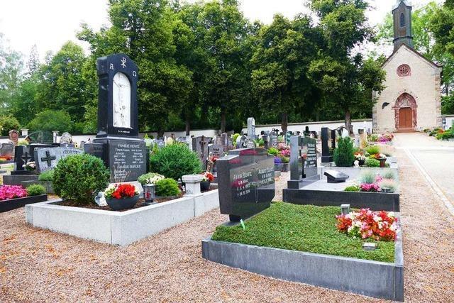 Friedhofskonzept soll bleiben