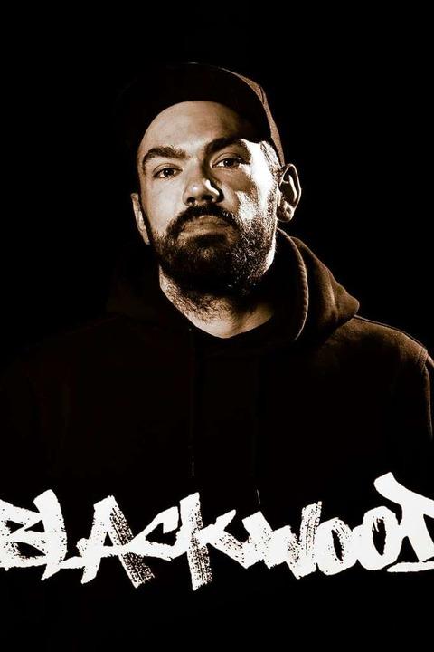 Philipp Diemand aus Saig alias Rapper Blackwood    Foto: Tina Hättich