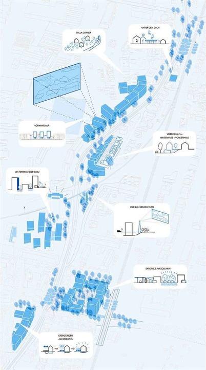 Skizze des Plangebiets vom Zoll bis an den Bahnhof Stetten  | Foto: Klatz