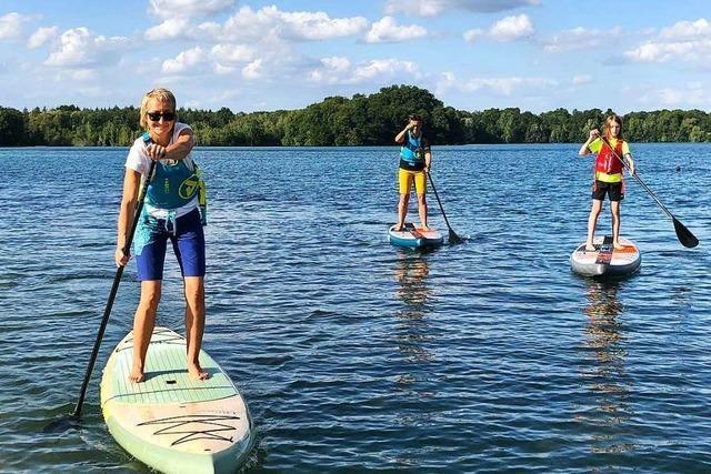 Seensucht nach mehr: Stand Up Paddling am Opfinger See in Freiburg