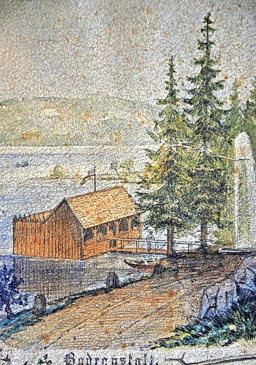 1877 ließ Sternenwirt Otto Ganter die ...einde 1925 das Bauholz zur Verfügung.     Foto: Archiv Friedbert Zapf