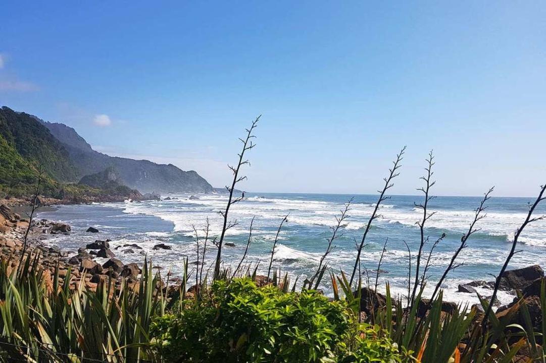 Fantastische Küsten: Das ist nur die eine Seite von Neuseeland.  | Foto: Nadine Zeller