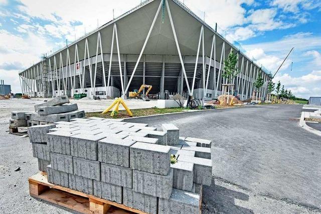 Fotos: Arbeiten am neuen Stadion des SC Freiburg gehen in die Endphase