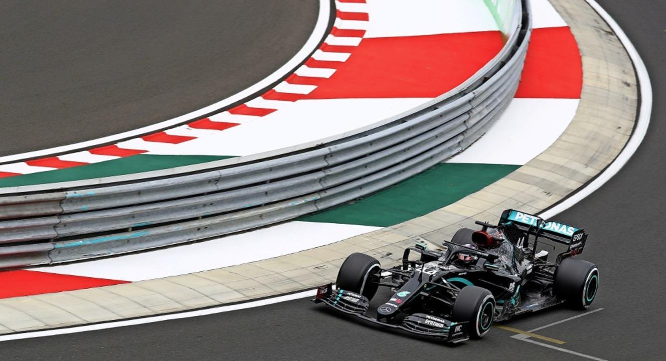 Lewis Hamilton beim Training auf dem H... auf dieser Strecke bereits gewonnen.   | Foto: MARK THOMPSON (AFP)