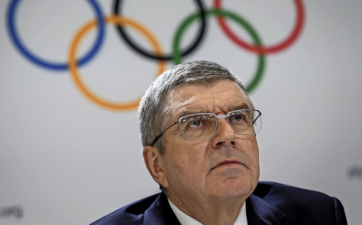 Thomas Bach strebt eine zweite Amtszeit als IOC-Präsident an.    Foto: FABRICE COFFRINI (AFP)