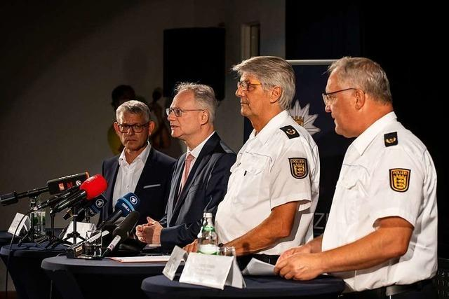 Polizei zur Festnahme von Yves R. in Oppenau: