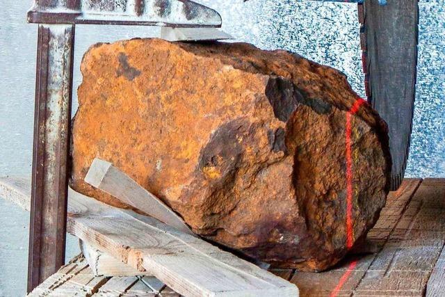 Deutschlands größter Steinmeteorit lag jahrelang in einem Garten in Blaubeuren