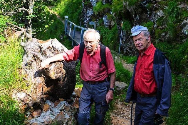 Zwei fitte Senioren kümmern sich um den Belchen-Gipfelweg
