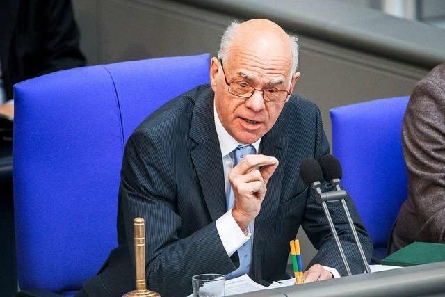 Ex-Bundestagspräsident Lammert: