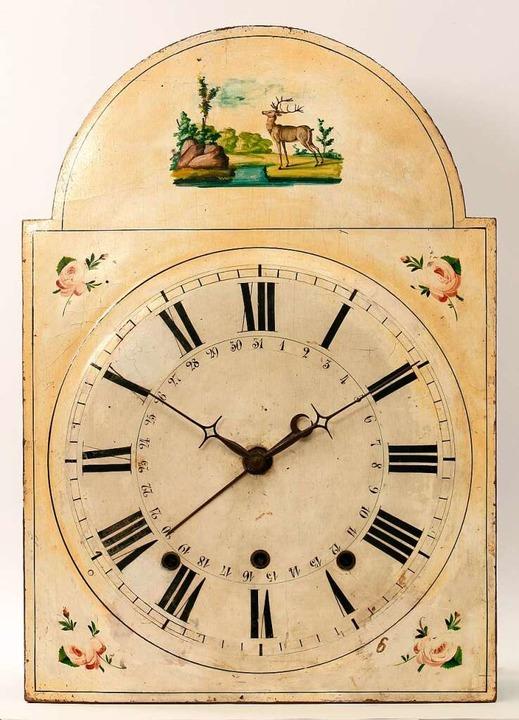 Lackschilduhr für den englischen Markt  aus dem Schwarzwald  | Foto: Deutsches Uhrenmuseum Furtwangen