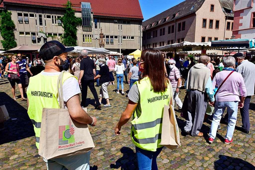 Münstermarkt-Gedränge hält sich in Grenzen – Schließung wohl kein Thema - Freiburg - Badische Zeitung