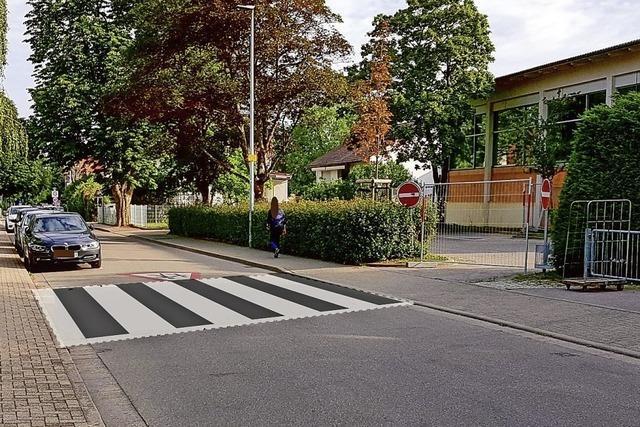 Die Landeck-Schule bekommt einen Zebrastreifen