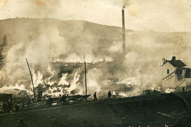 Vor 100 Jahren brannte in Titisee-Neustadt das Dampfsäge- und Holzwerk Himmelsbach