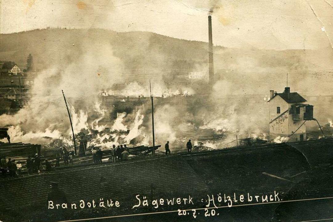 Beim Brand des Dampfsäge- und Holzwerk...uck knapp an einer Katastrophe vorbei.  | Foto: Archiv Roland Weis