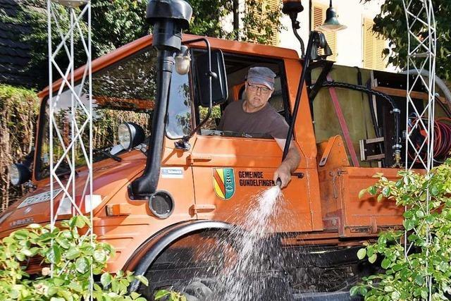 Ohne den Wassermann würden Bäume in Gundelfingen vertrocknen