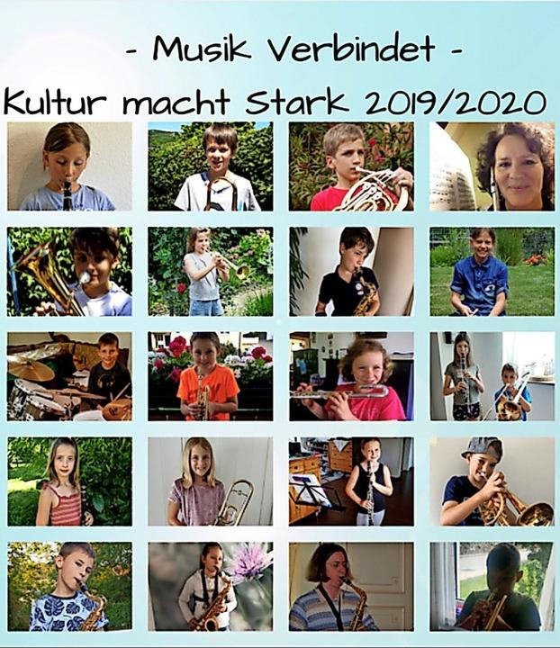 Eine Collage soll die Kinder an die gemeinsamen Musikerlebnisse erinnern.  | Foto: Privat