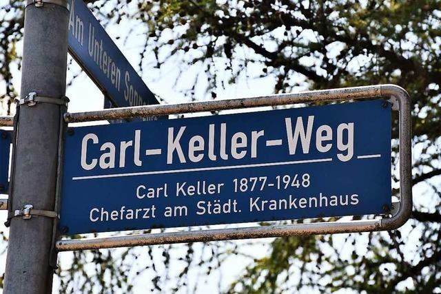 Einige Anwohner wollen keine Umbenennung des Carl-Keller-Wegs in Lörrach