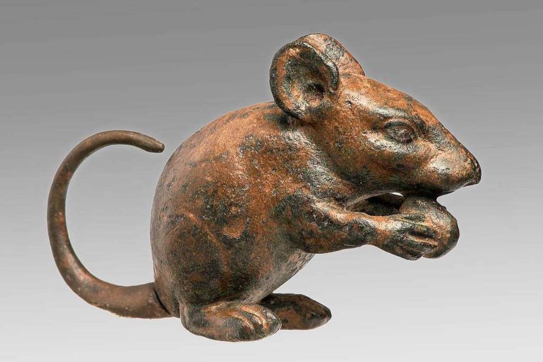 Solche Mäuse aus Bronze (1. Jh. v. Chr.) sollten in Rom die echten vertreiben.    Foto: Renate Kühling/Staatliche Antikensammlungen