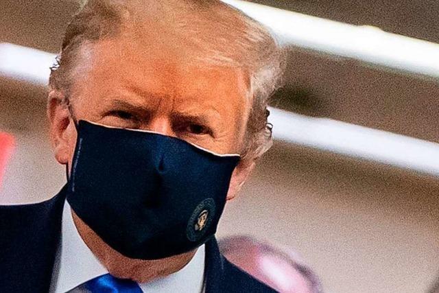 Trump hält das Tragen von Mund-Nasen-Schutz plötzlich für