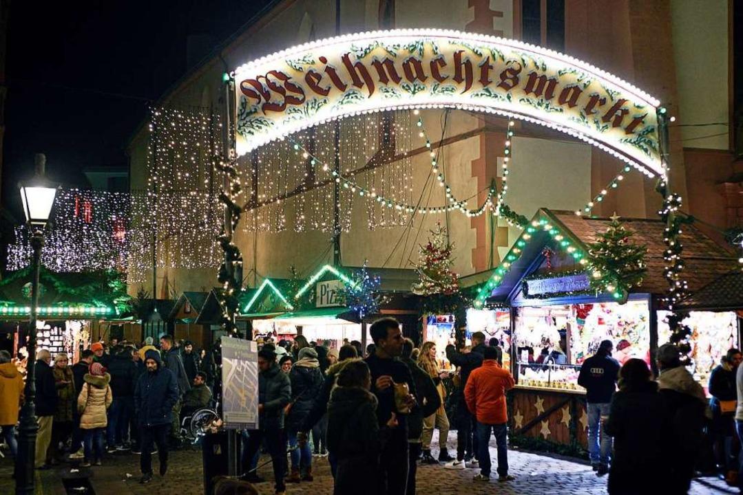 Der Freiburger Weihnachtsmarkt soll de...Stühlinger Kirchplatz verteilt werden.  | Foto: Thomas Kunz