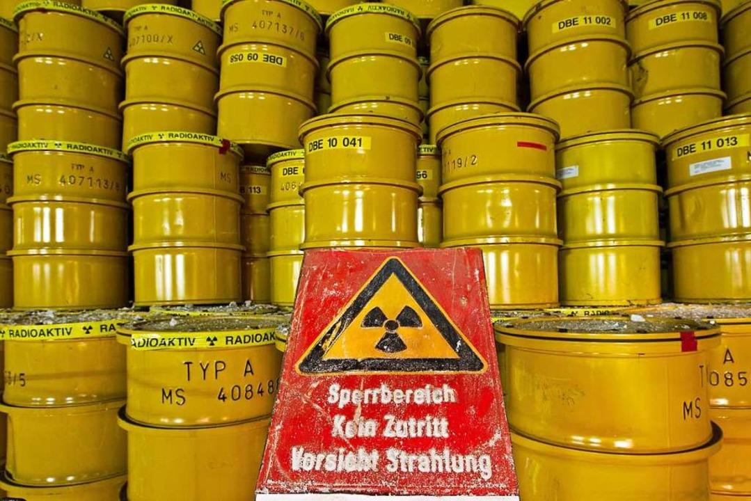 Schwach- und mittelradioaktiver Müll lagert in Morsleben (Archivbild).  | Foto: Jens Wolf