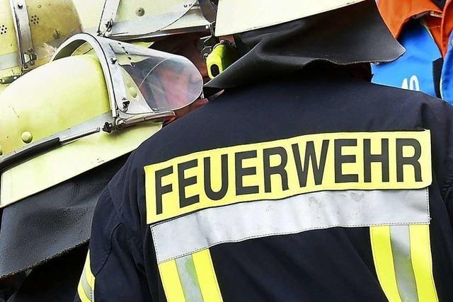 Grünfläche in Schopfheim steht in Flammen