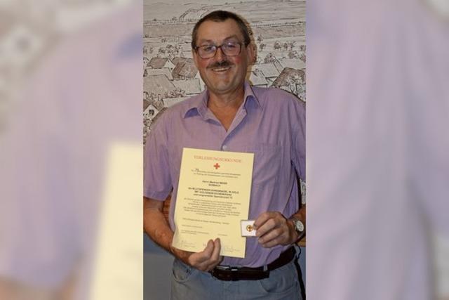 Ortschaftsrat ehrt Blutspender
