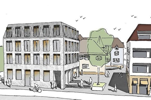 Der Plan zum Rathausanbau