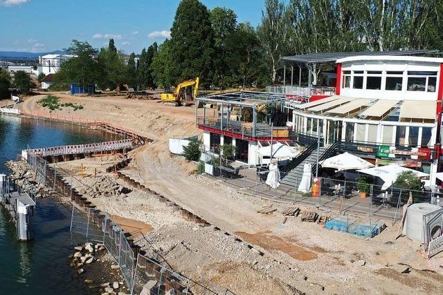 Die Arbeiten zur Umgestaltung des Rheinparks schreiten zügig voran