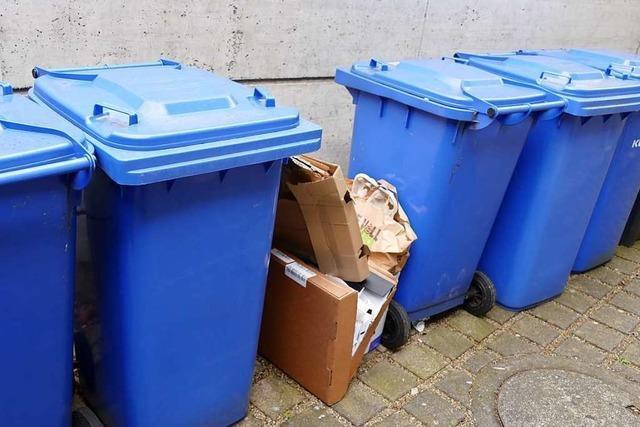 Anbieter der Blaue Tonnen in Lörrach sind mit der Zahl der Bestellungen zufrieden