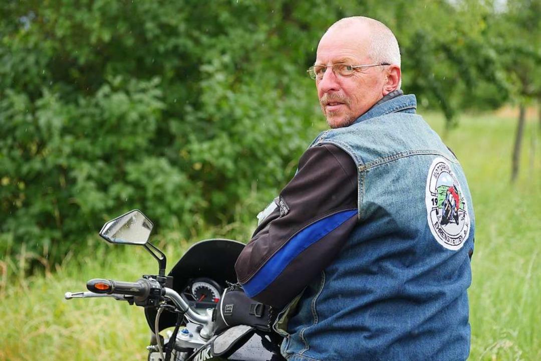 Uwe Conrad ist zweiter Vorsitzender de...e gegen Motorradlärm gefordert werden.  | Foto: Jannik Jürgens