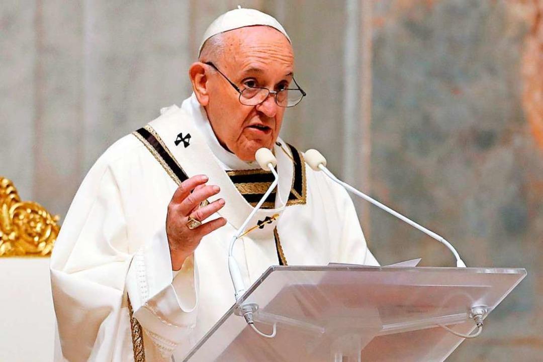 Der aktuelle Papst: Franziskus  | Foto: REMO CASILLI (AFP)