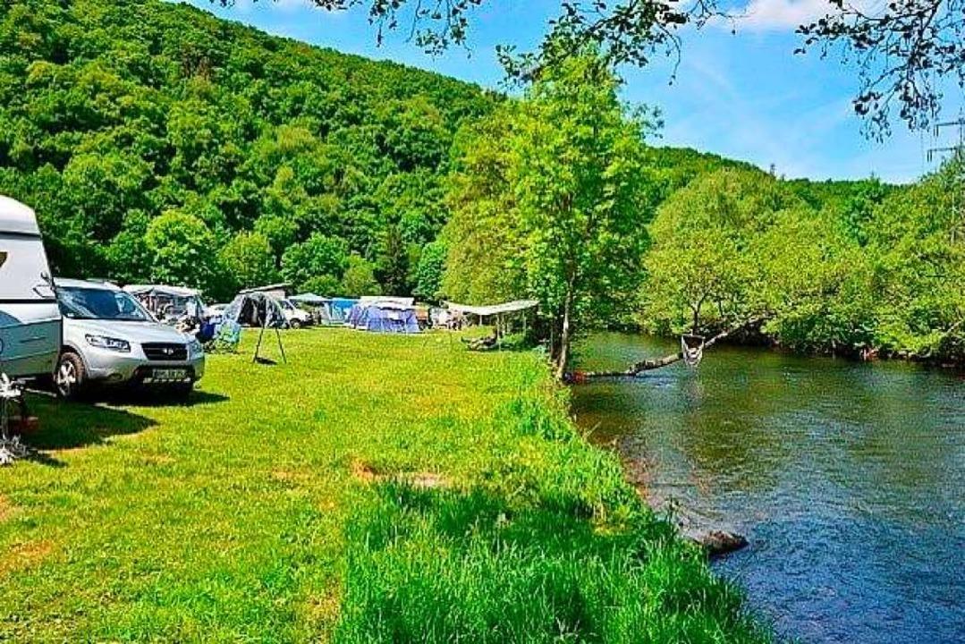 Superschön: Campen am Fluss    Foto: Privat