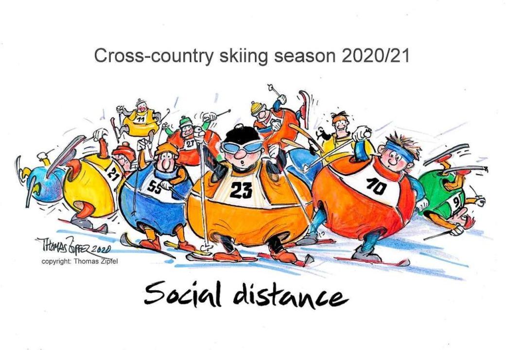 Zipfels Sicht auf den kommenden Skiwinter: Mit Ballonanzug auf die Skatingpiste  | Foto: Thomas Zipfel