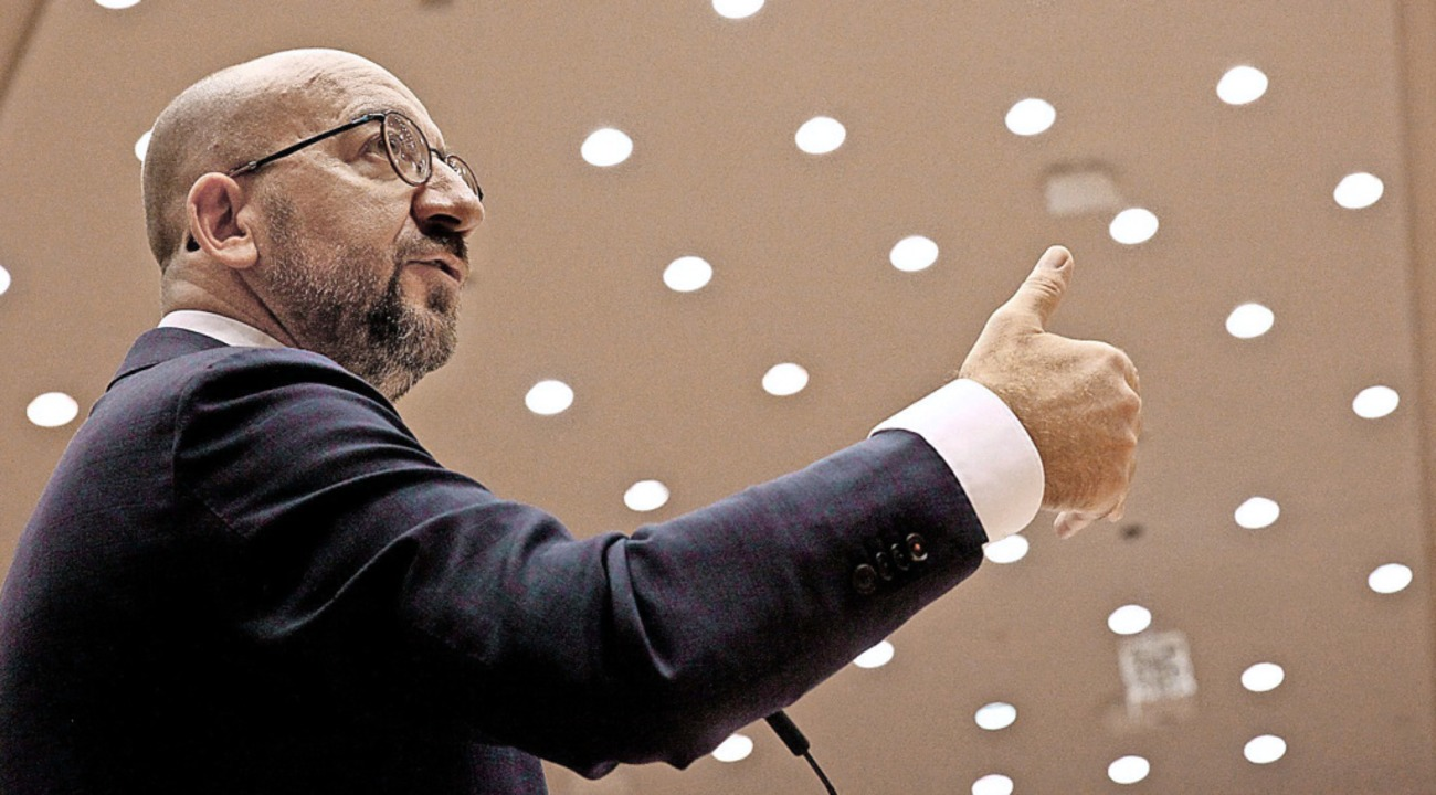 Der Verhandlungsmarathon geht weiter &...ch von EU-Ratspräsident Charles Michel  | Foto: FRANCOIS WALSCHAERTS (AFP)